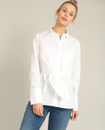 Chemise à nouer écru