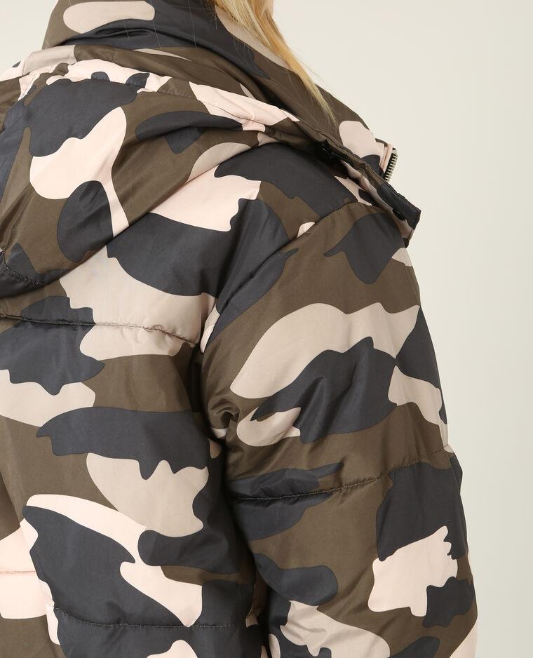 Doudoune oversize camouflage kaki