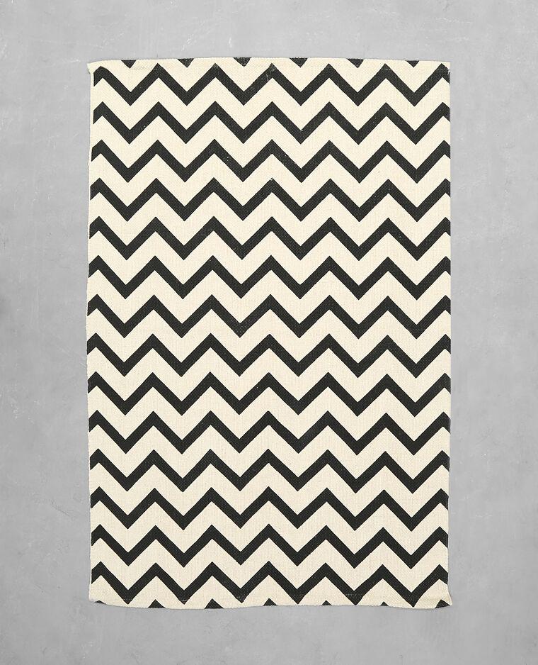 tapis graphique noir 902237899i07 pimkie. Black Bedroom Furniture Sets. Home Design Ideas