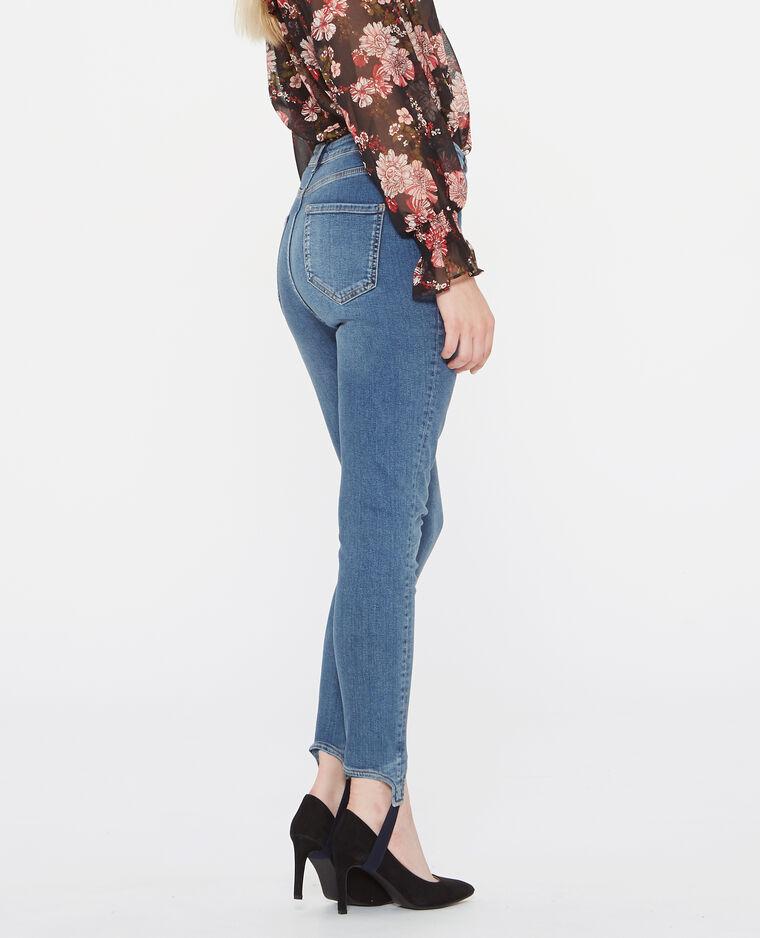 Jean skinny fuseau bleu