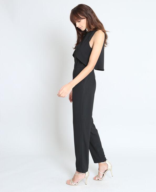 Combi-pantalon dos ouvert noir