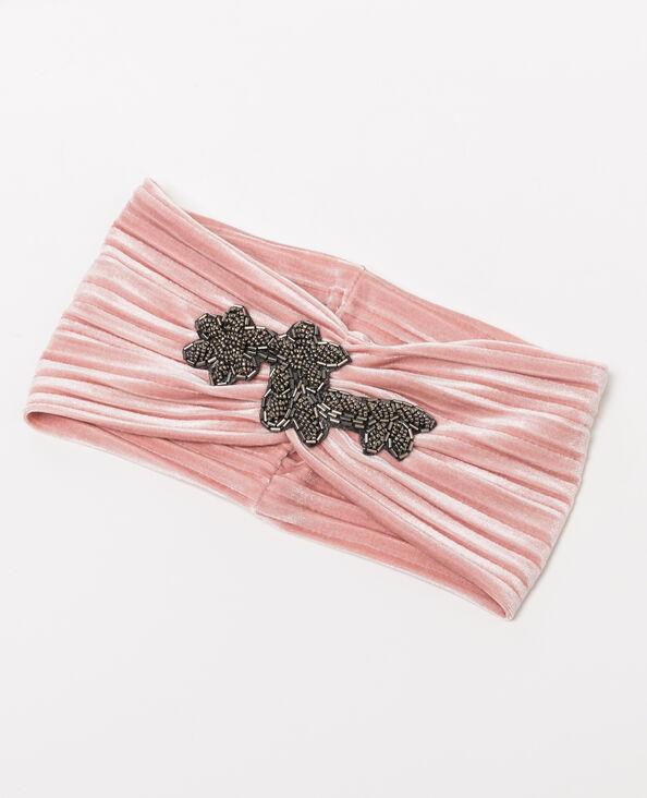 Headband à bijou rose