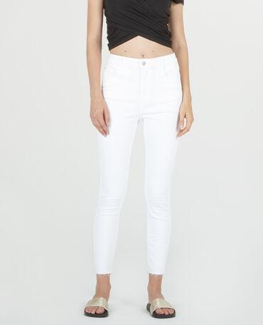 Jean skinny 7/8 blanc