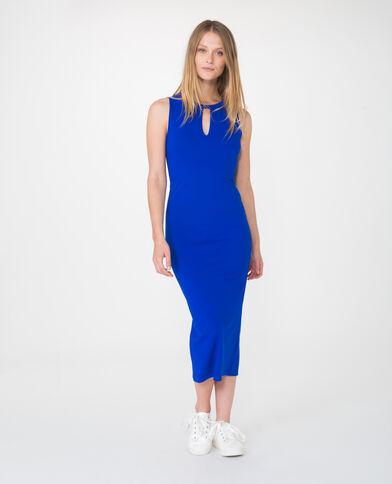 Robe longue bleu électrique
