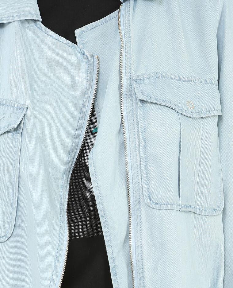 Veste fluide bleu clair