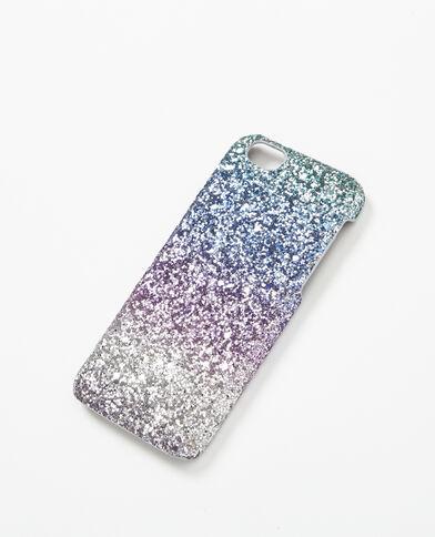 Coque paillettée violet