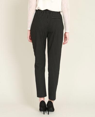 Pantalon city à rayures noir