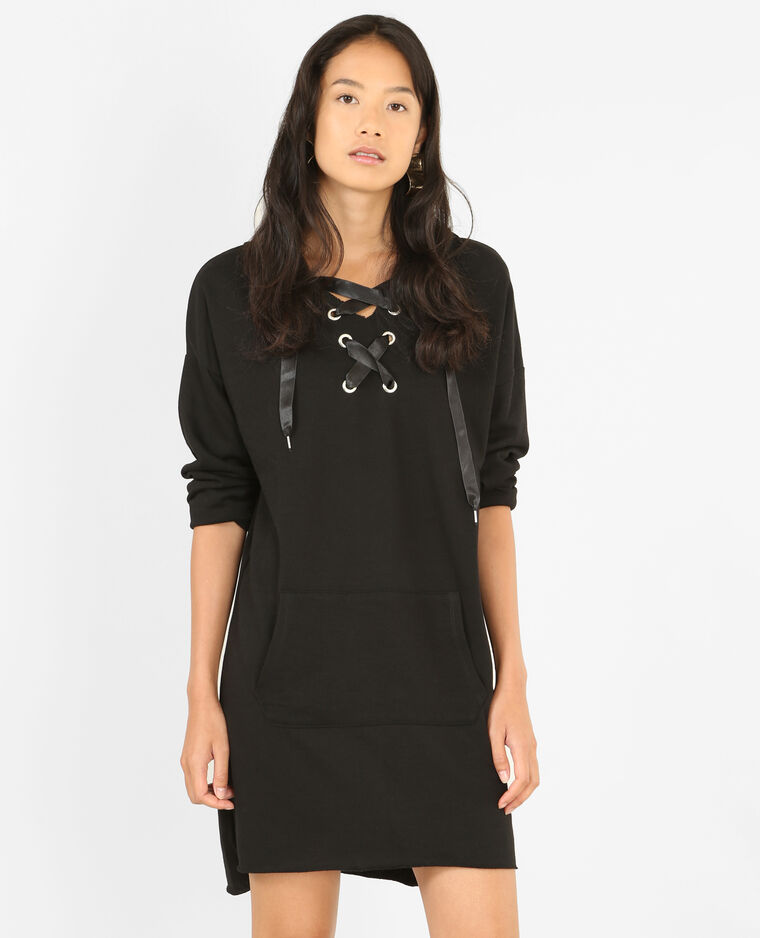 robe pull lacets noir 780750899a08 pimkie. Black Bedroom Furniture Sets. Home Design Ideas