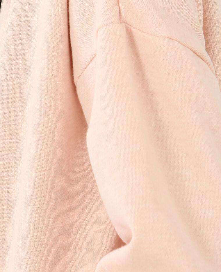 Sweat à capuche rose pâle