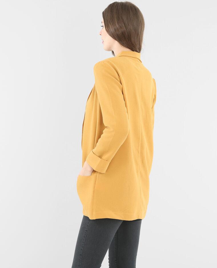 Veste blazer fluide moutarde 323042037a00 pimkie - Blazer jaune moutarde ...