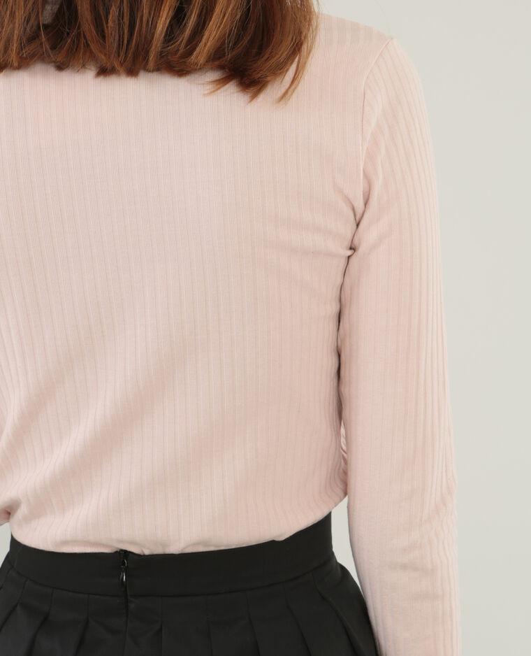 T-shirt col choker rose