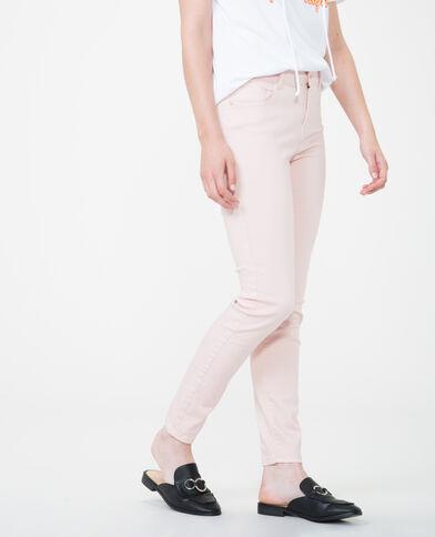Pantalon skinny push up rose