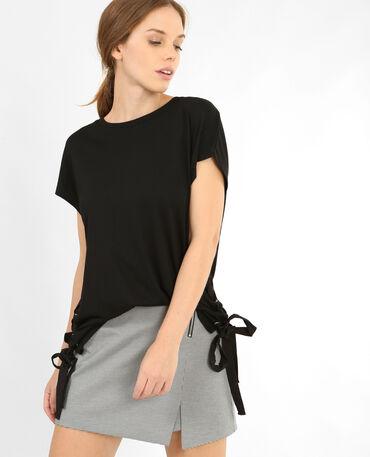 T-shirt à lacets noir