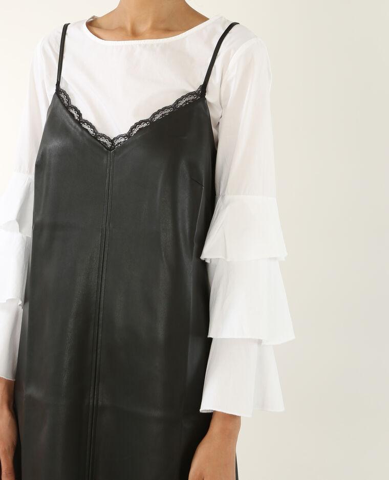 Robe en simili cuir noir