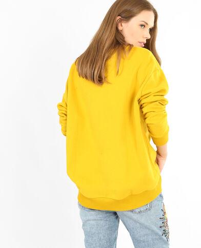 Sweat basique jaune moutarde