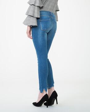 Jean skinny à perles bleu