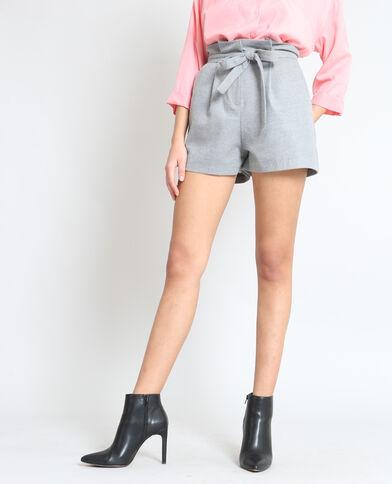 Short taille haute gris chiné