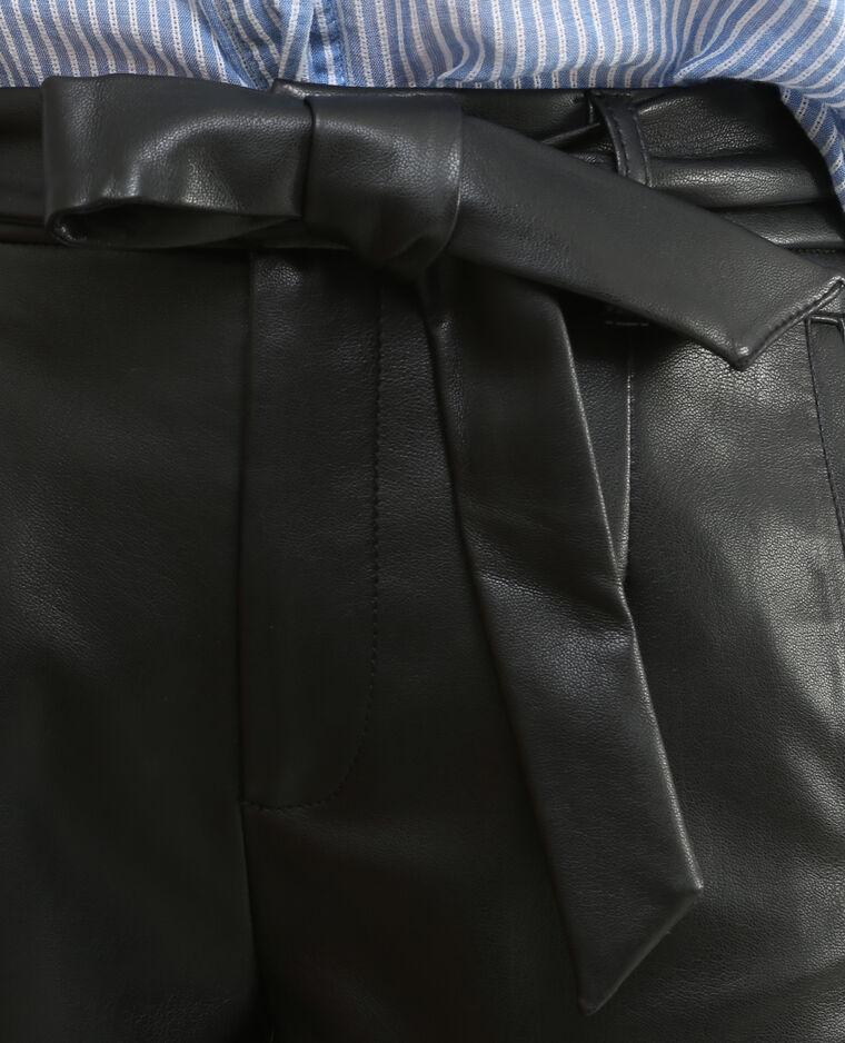 Short simili cuir noir