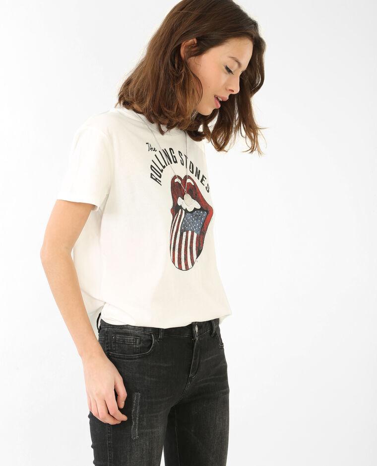 T-shirt Rolling Stones blanc cassé