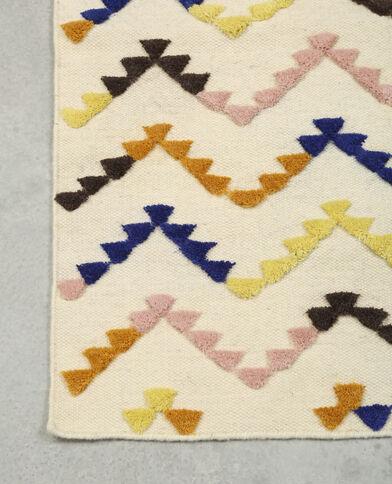 Tapis multicolore écru