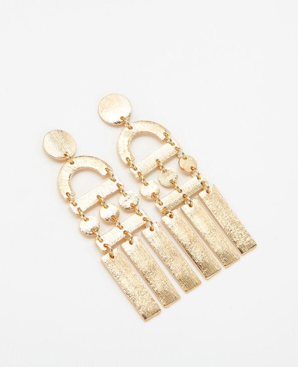 Boucles d'oreilles métal XL doré