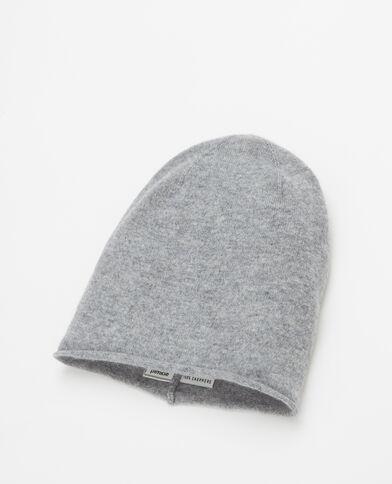 Bonnet 100% cachemire gris chiné