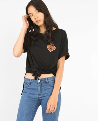 T-shirt à nouer noir