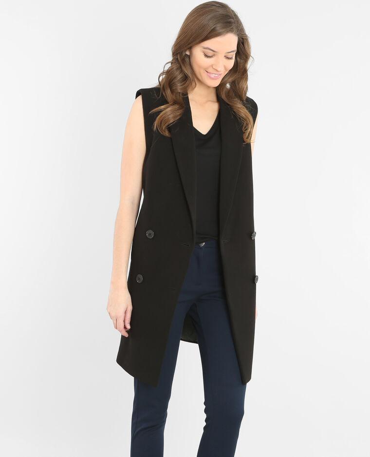 veste blazer sans manche noir 324031899a08 pimkie. Black Bedroom Furniture Sets. Home Design Ideas