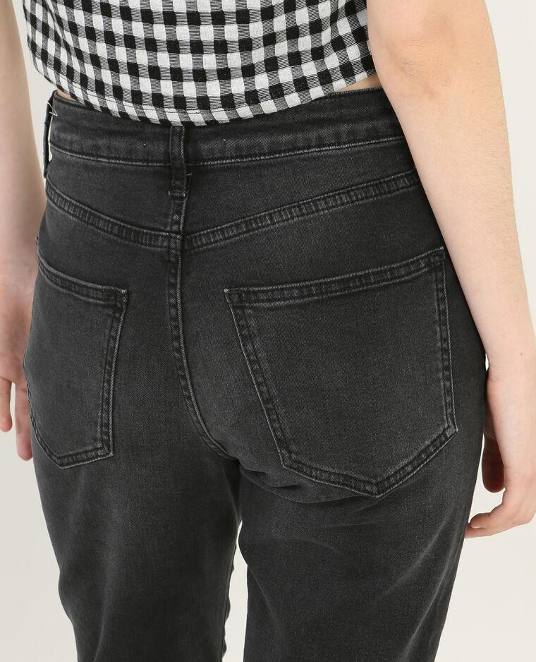 Jean slim zippé gris délavé