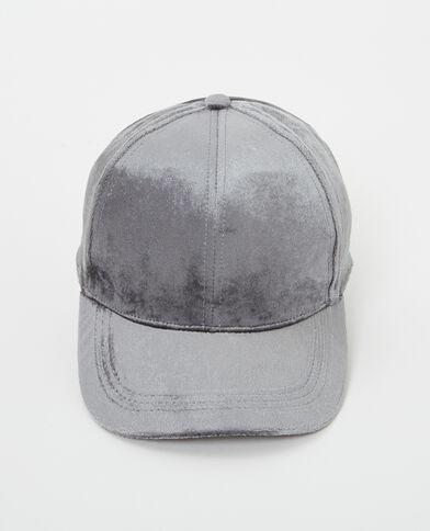 Casquette velours gris anthracite