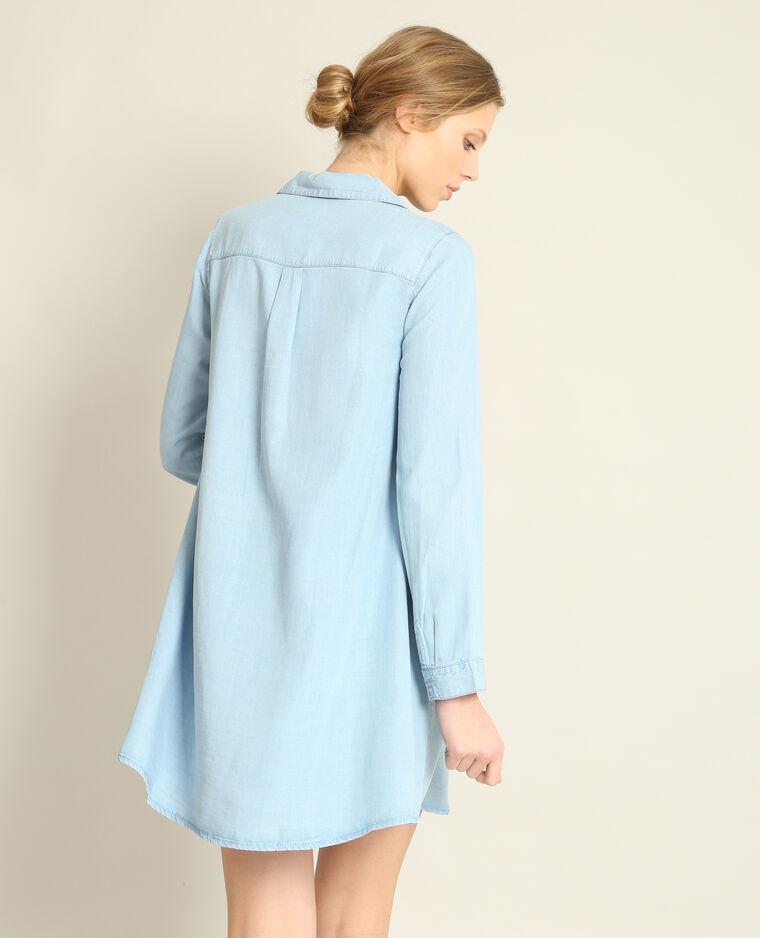 Robe chemise bleu clair