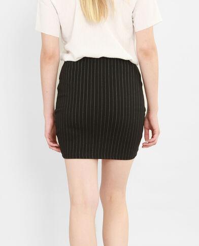 Mini jupe rayée noir