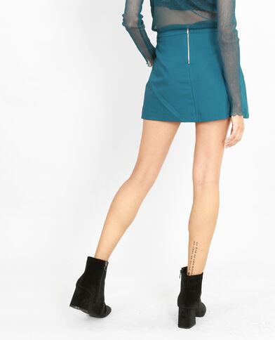 Mini jupe-short bleu canard