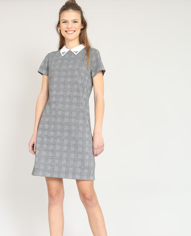 Robe col claudine gris