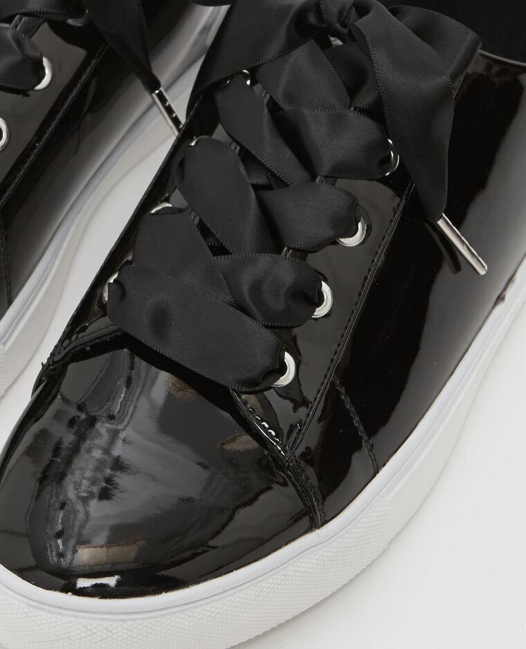 Baskets vernies noir