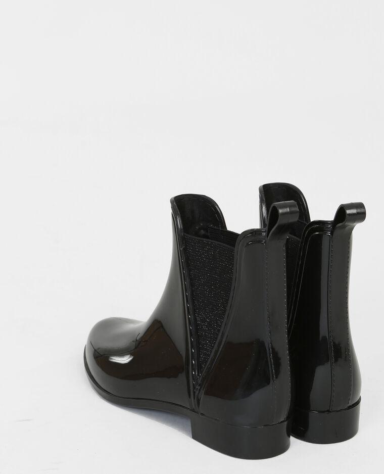 Boots chelsea caoutchouc noir