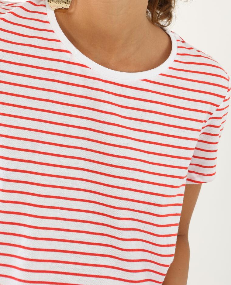 T-shirt à rayures blanc