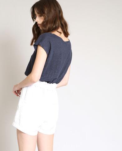 T-shirt en lin bleu marine