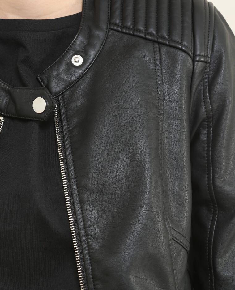 Veste en simili cuir noir