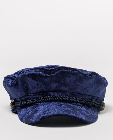 Casquette marin velours bleu