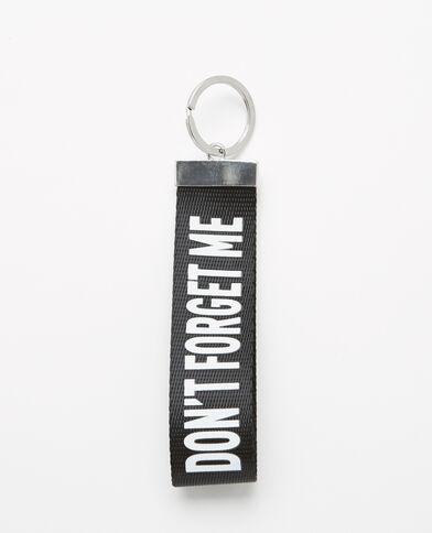 Porte-clés à message noir