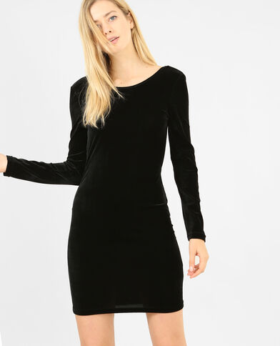 Robe velours noir