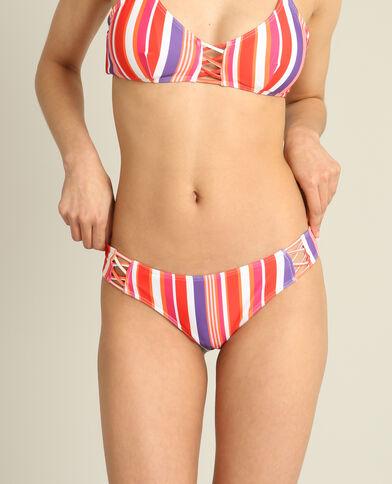Bas de bikini à rayures rouge