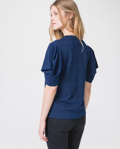 T-shirt manches ballon bleu
