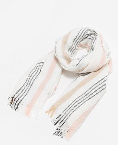 Echarpe à rayures blanc