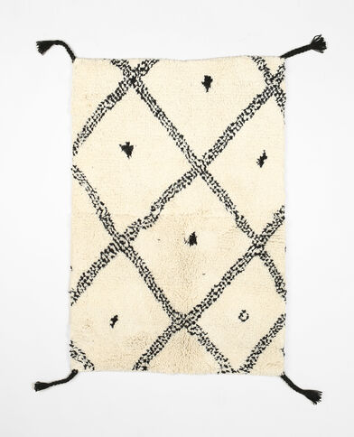 Tapis berbère en laine blanc