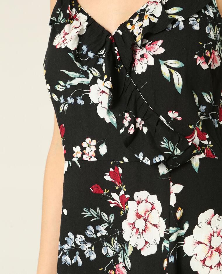 Robe imprimé fleuri noir