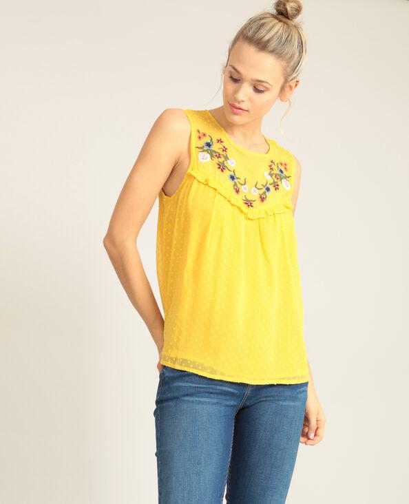 Blouse en plumetis jaune