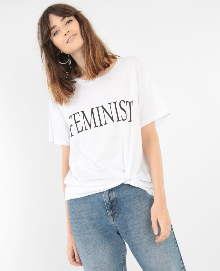 "T-shirt ""Feminist"" collection limitée blanc"