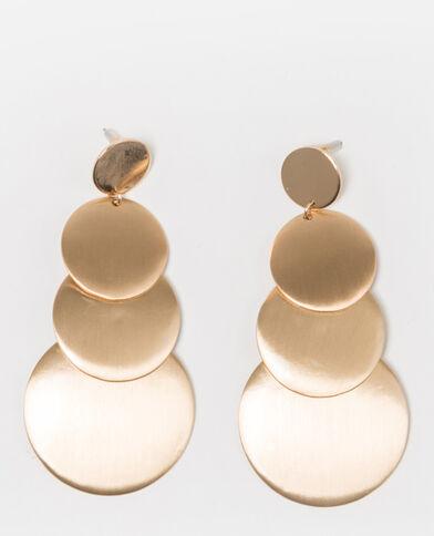 Boucles d'oreilles maxi doré